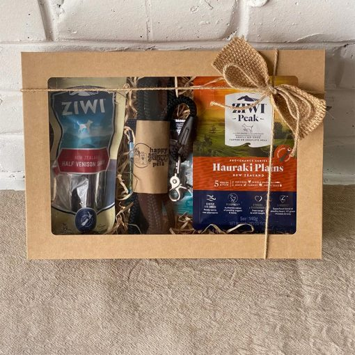 gift pack with black dog lead